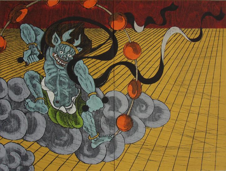 Nana Shiomi 'Here Comes the Thunder God'. From Hanga Ten