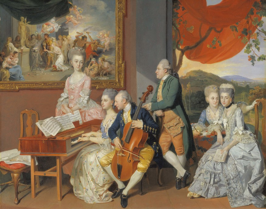 Johan Zoffany RA: Society Observed  10 March 2012 to 10 June 2012    Key. 48      Johan Zoffany  The Gore family with George, Third Earl Cowper, c. 1775  Oil on canvas  78.7 x 97.8 cm  Yale Center for British Art, Paul Mellon Collection
