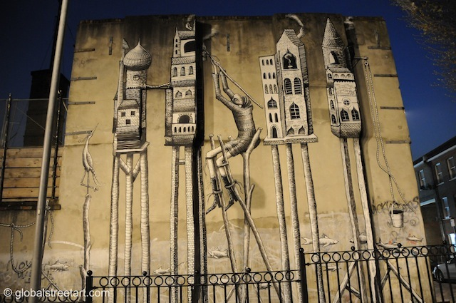 Main mural wall