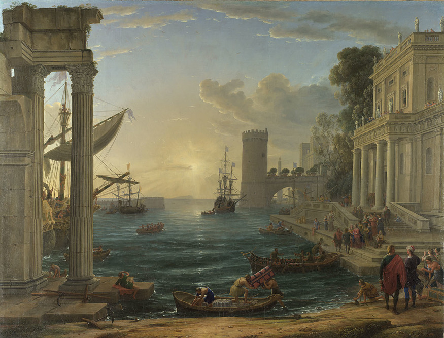 Claude, Seaport with the Embarkation of the Queen of Sheba, © The National Gallery, London.