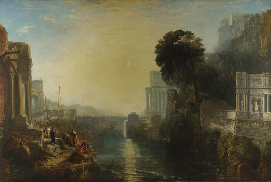 Joseph Mallord William Turner, Dido building Carthage, or The Rise of the Carthaginian Empire, 1815. © The National Gallery, London.