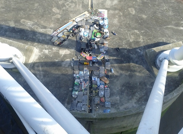 Hungerford Bridge Skateboard Graveyard Disturbed