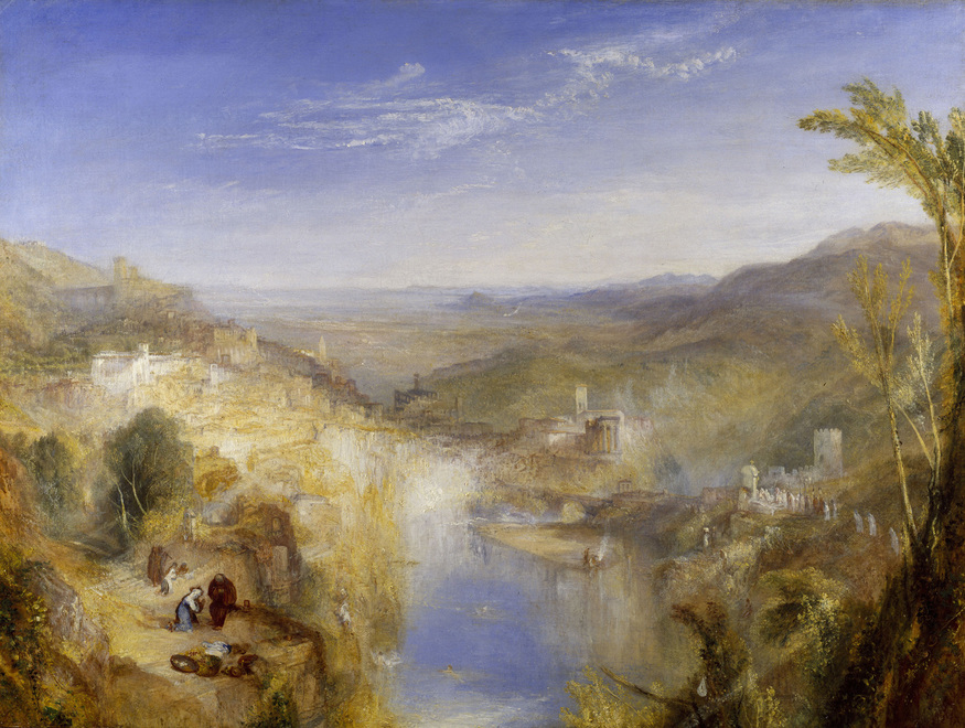 painting Turner, Joseph Mallord William (1775 - 1851, English) Italy, Modern Italy (place depicted) oil on canvas unframed dimensions: 926 x 1232 mm; framed: 1370 x 1673 x 128 mm    Oil on Canvas 92.5 x 123 cm  Painting entitled 'Modern Italy - the Pifferari', by Joseph M W Turner   733