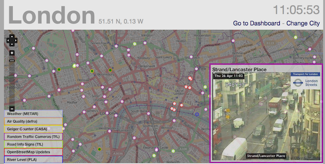 City Dashboard Gives Realtime Info About London