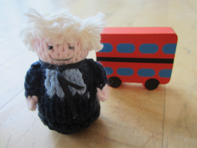 Boris Johnson and the back end of a bus.