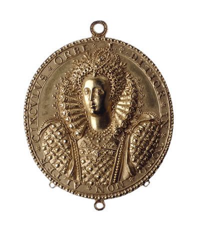 Gold medal of Elizabeth I by Nicholas Hilliard. England, c. 1580–1590