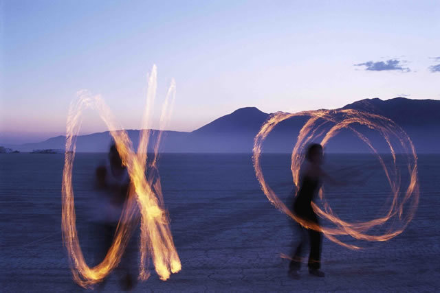 """The Burning Man Festival, held in the Black Rock Desert in northern Nevada. Burning Man is described as """"an experiment in community, art, radical self-expression, and radical self-reliance"""""""
