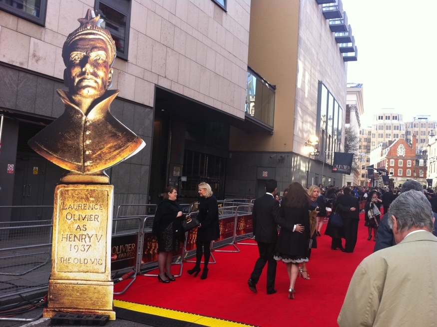 The red carpet at last night's Olivier Awards at the Royal Opera House by Zoe Craig