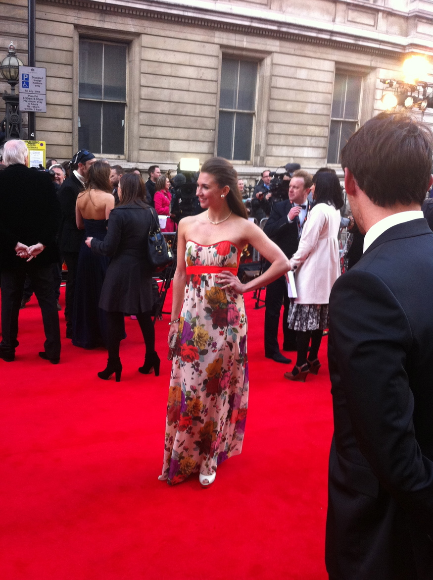 Actress Summer Strallen at last night's Olivier Awards by Zoe Craig