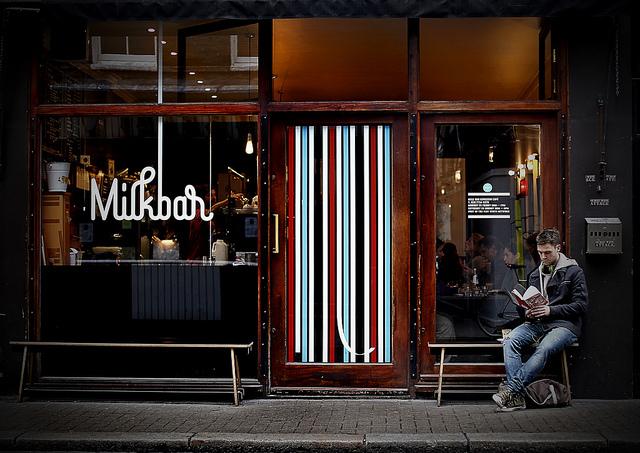 Milkbar in Bateman Street, Soho, by Pete Zelewski