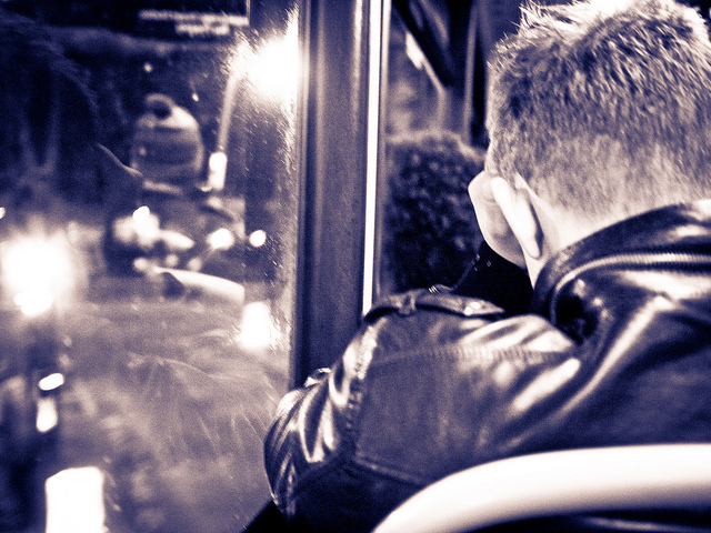 On the Night bus, by R4vi