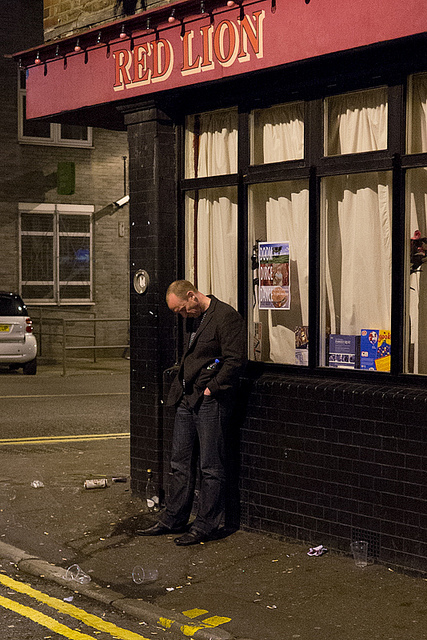 Standing drunk at the Red Lion, by bart613