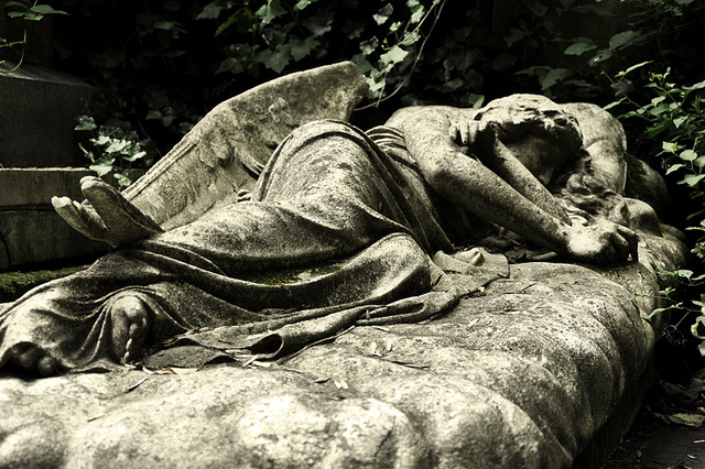 And finally... Sleeping Angel in Highgate Cemetery, by Iris Jones