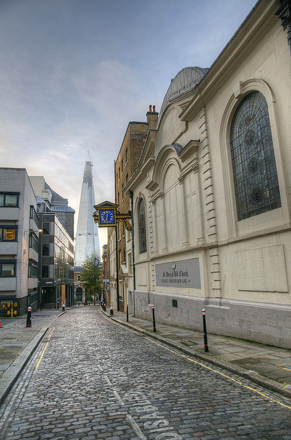 St Mary Hill - now overshadowed by the Shard, by mattomatto