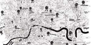 A Super-Detailed Hand-Drawn Map Of London
