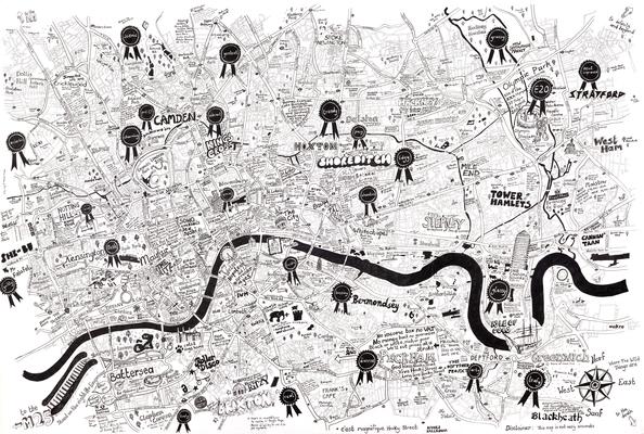 A Beautiful, Personal Map Of London