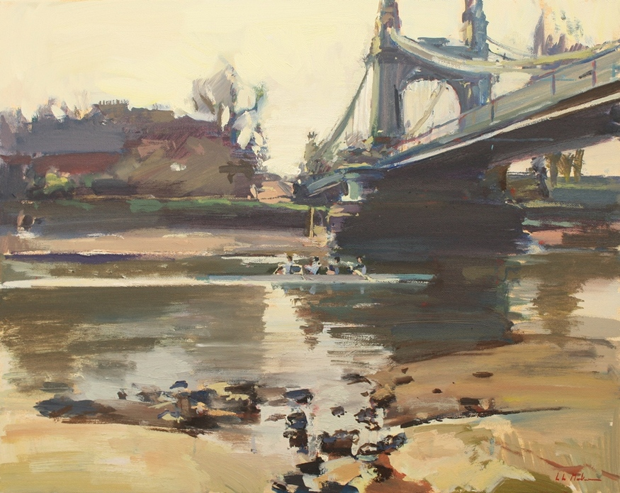 Luke Martineau, Coxless four at Hammersmith Bridge