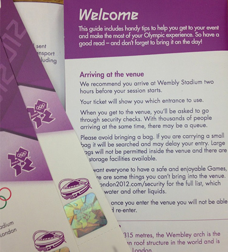 Olympic Ticket Guide Misspells Wembley Stadium
