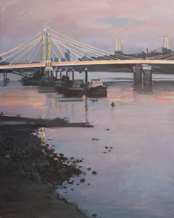 Luke Martineau, Albert Bridge at dusk