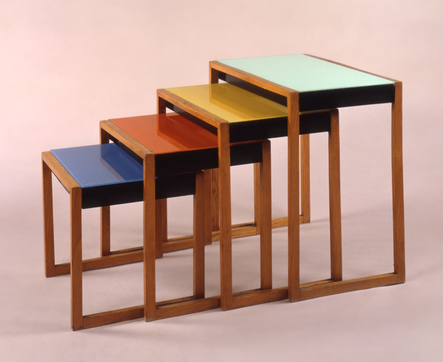 Josef Albers, set of stacking tables, c. 1927
