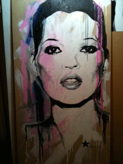 Ben Levy, Kate Moss. Courtesy The Other Art Fair