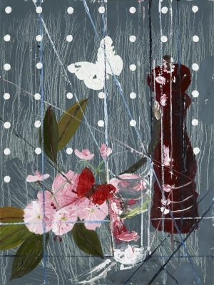 Damien Hirst, Blossom with Pepper Mill and Butterflies. Courtesy White Cube.