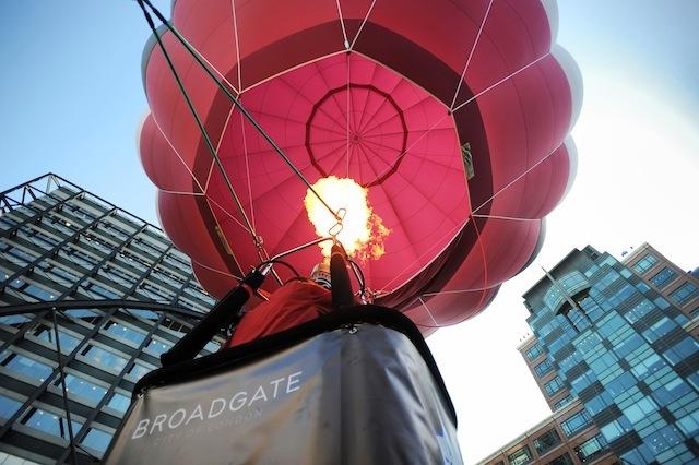Take A Balloon Ride In Broadgate