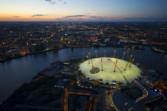 The O2 and the Greenwich Peninsula