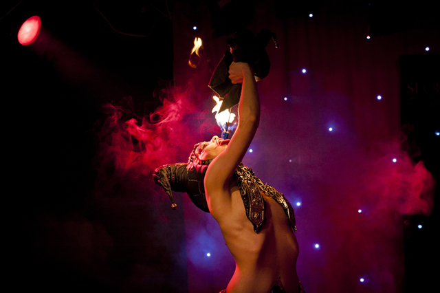 Many performers used circus skills including fire-eating, circus hoops and acrobatics.