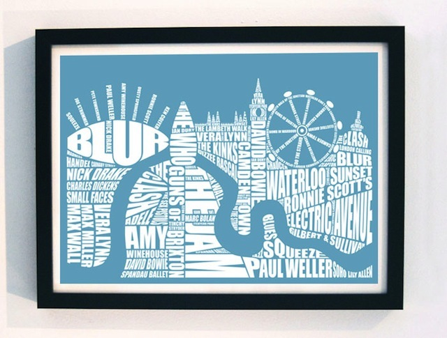 Win A Limited Edition London 'Music' Print With LLUSTRE.com