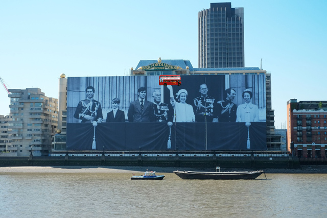 Giant Image Of Royal Family On The South Bank