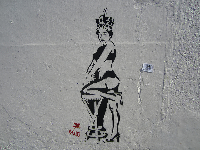 Bikini Queen, off Camden High Street. Photo by M@.