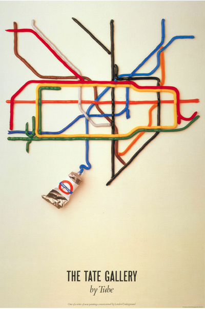 David Booth's famous advert for the Tate by Tube.