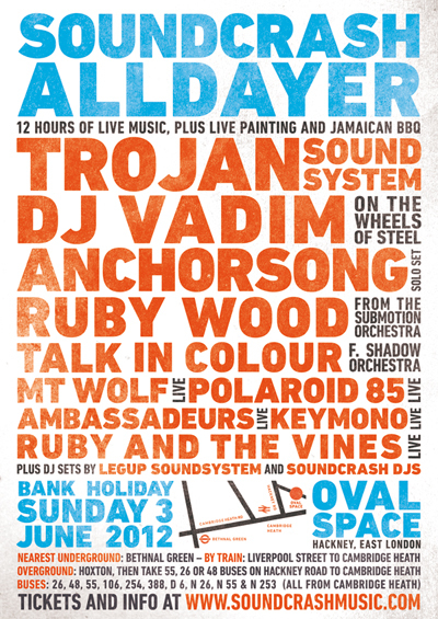 Warehouse Party: Soundcrash Alldayer @ Oval Space