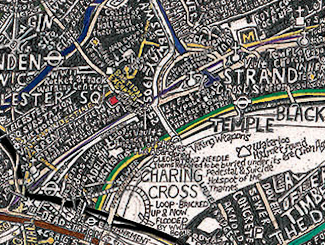 Stephen Walter's Map Of Subterranean London