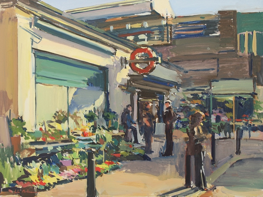 Luke Martineau, Wheelers' Flower Stall at Turnham Green Tube