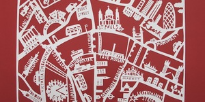 Maps Of London: Hand-Cut Capital