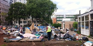 Occupy Protestors Evicted From Finsbury Square And Hampstead Heath