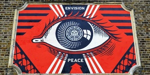 "Shepard ""Obey"" Fairey Paints Turnpike Lane Mural"