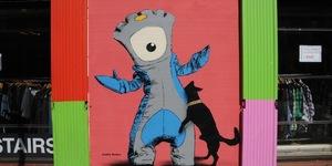 Naughty Olympic Street Art On Brick Lane