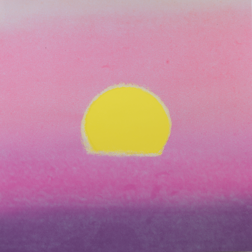 Andy Warhol, Sunset (I of IV). Image © The Andy Warhol Foundation for the Visual Arts
