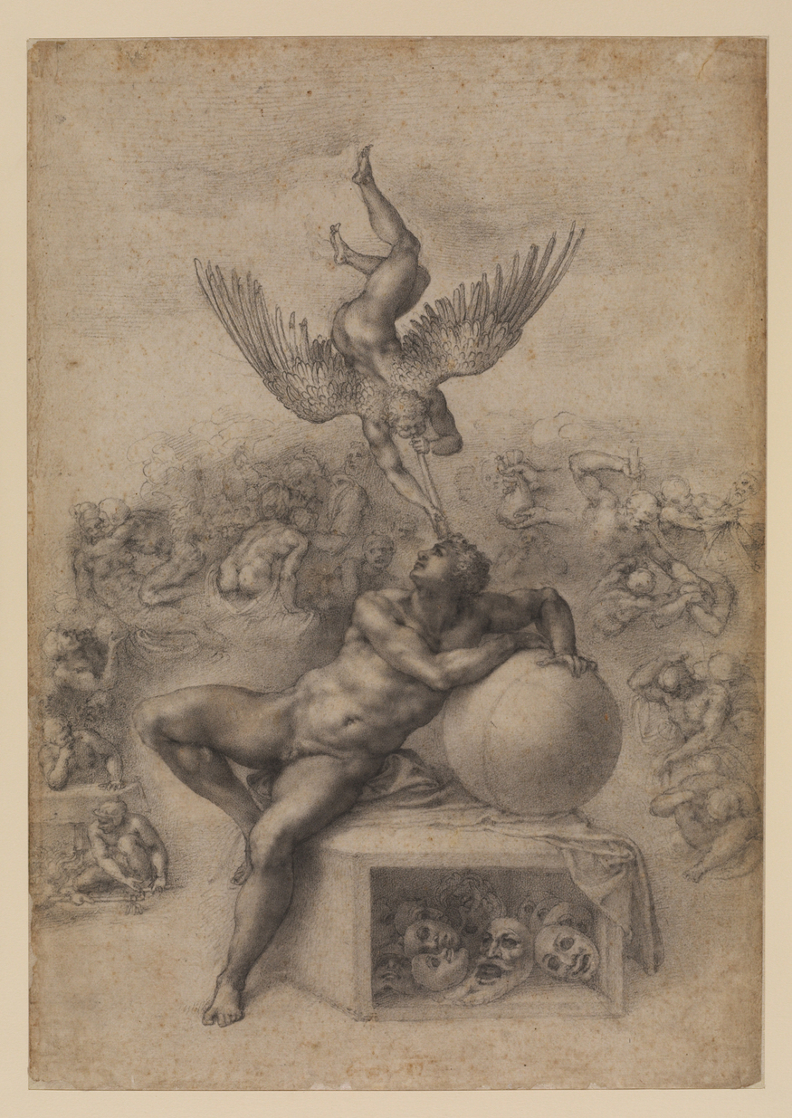 Michelangelo Buonarrotti, The Dream (Il Sogno). © The Courtauld Gallery, London