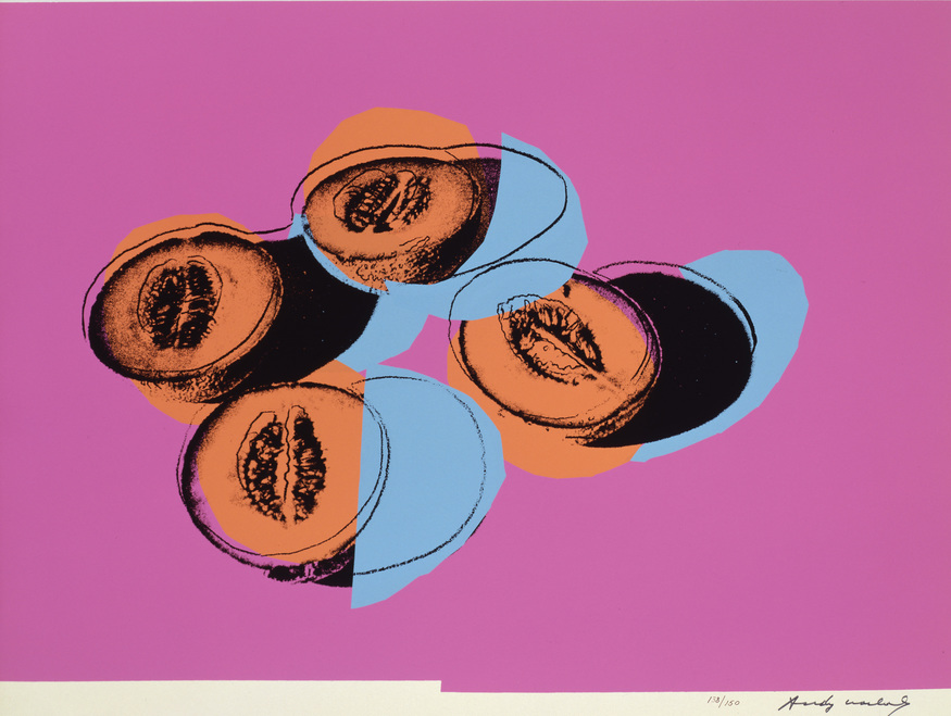 "Andy Warhol, Cantaloupes II (5 of 6 in Suite ""Space Fruit""). Image © The Andy Warhol Foundation for the Visual Arts"