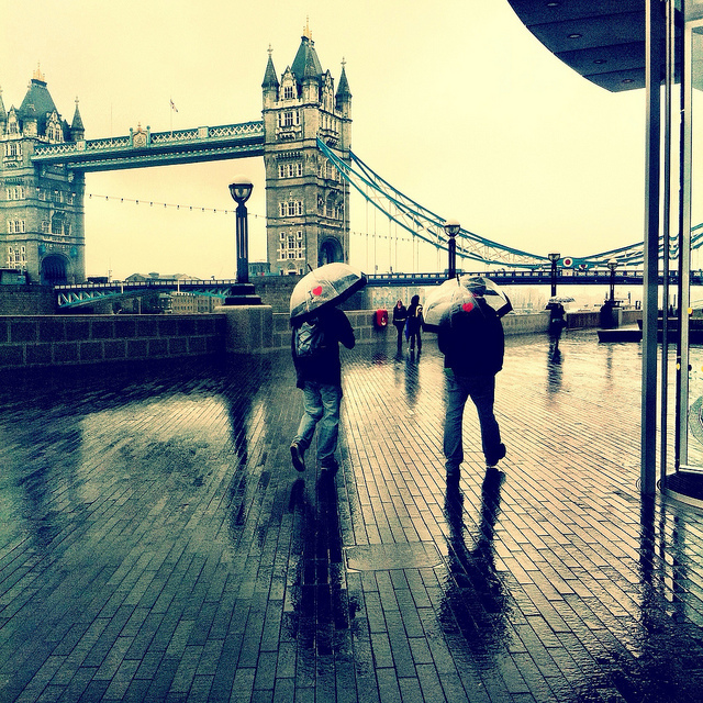 Rain, Tower Bridge by Laurabot_