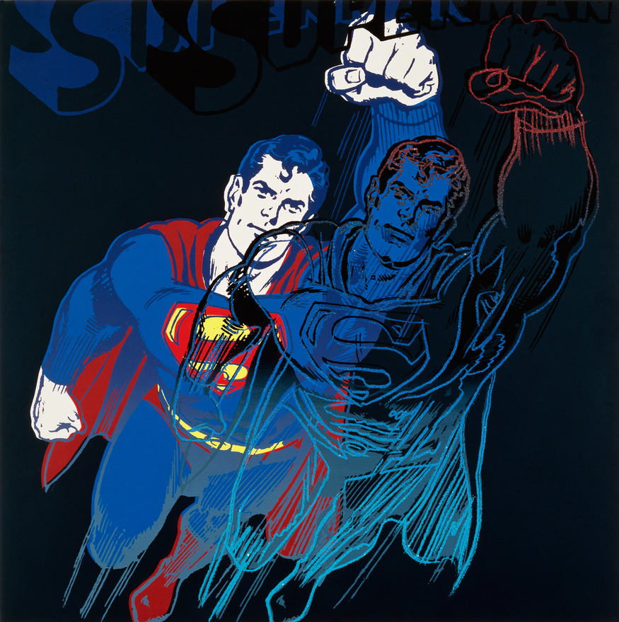 Andy Warhol, Superman (6 of 10 from Myths), Image Courtesy Ronald Feldman Fine Arts, New York
