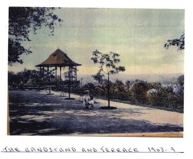 Bandstand and terrace from the south, 1903/4
