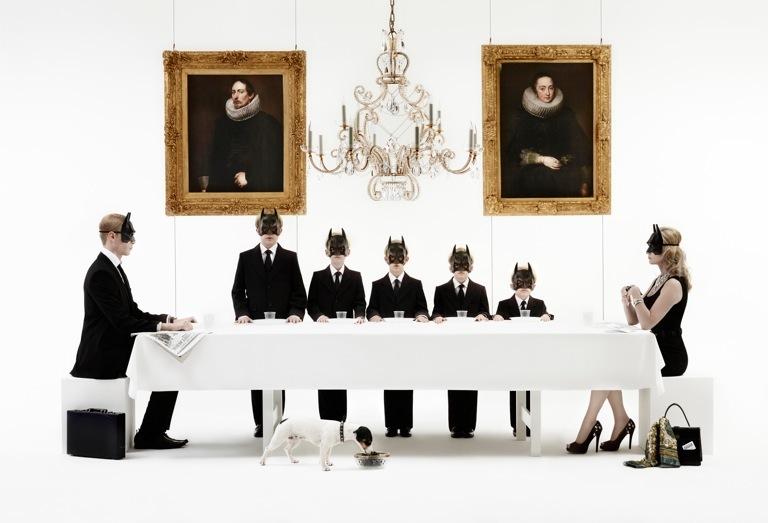Gerard Rancinan, Batman Family. Courtesy Opera Gallery.