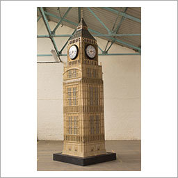 Big Ben B Tartbox. This 13 foot, malformed replica of Big Ben was constructed by New Zealand artist Mandii Pope. It has four working clock faces, apparently.