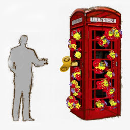 Flowerbox. Playful artists greyworld, who recently hung a glowing sun in Trafalgar Square, return with this floral booth. Turn the key and artificial flowers debouch.