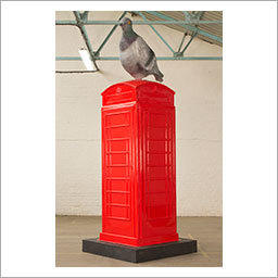 Stop The Pigeon: It's a red phone box with a giant pigeon named after an old children's cartoon. What more do you want? Designed by HoWoCo.
